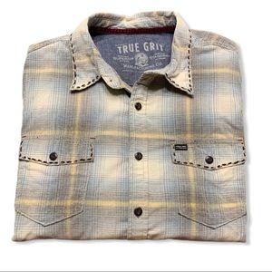 True Grit Lux Vintage Plaid Canyon Cord Shirt Sz L